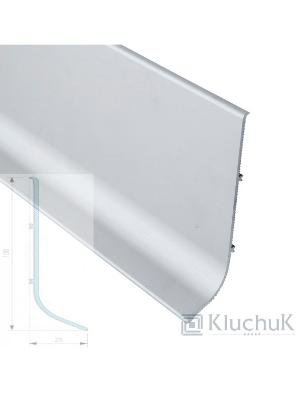 Плинтус Kluchuk Алюминиевый Накладной 100