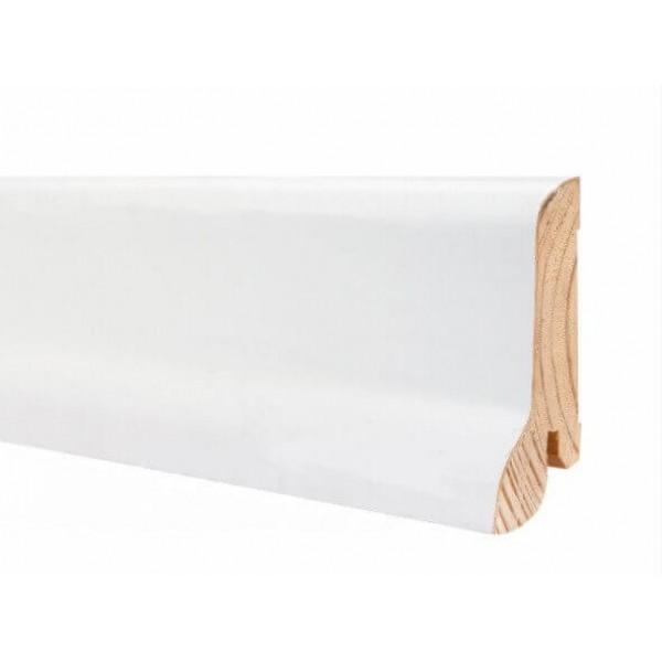 Плинтус Kluchuk WHITE PLINTH 60*21*2200 Профиль Классический