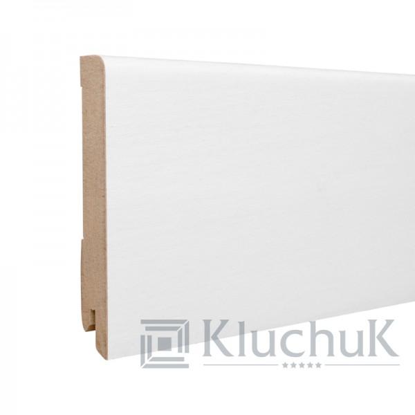Плинтус Kluchuk MDF Шпон 100 Прямой Белый